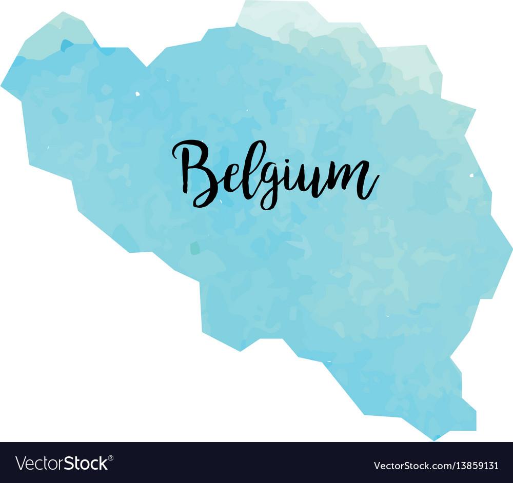 Abstract belgium map vector image