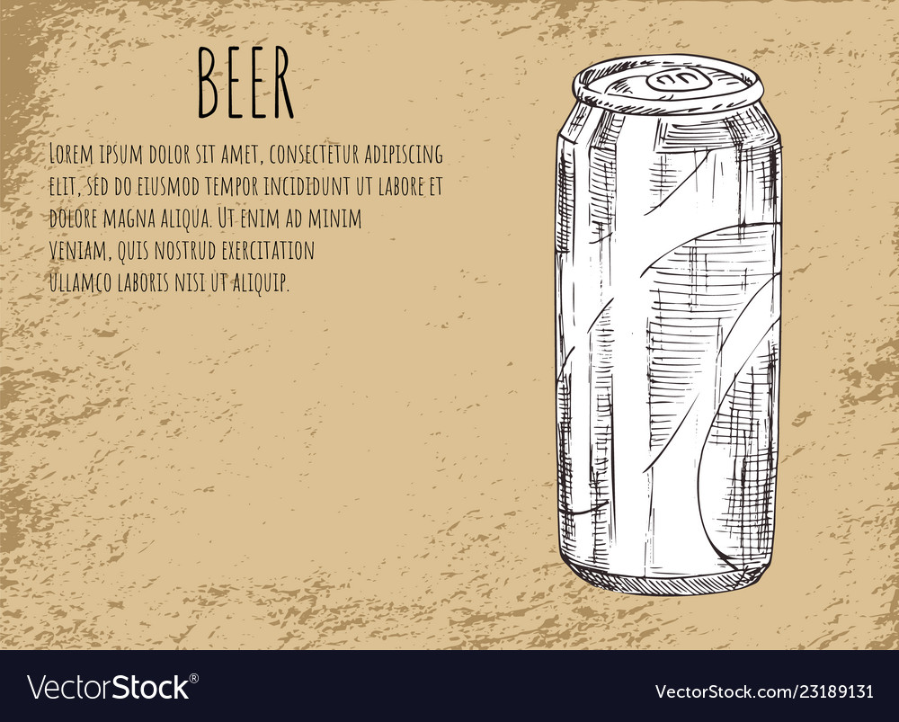 Beer alcoholic drink sketch