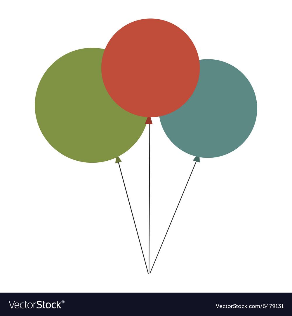Birthday balloon flat icon vector image