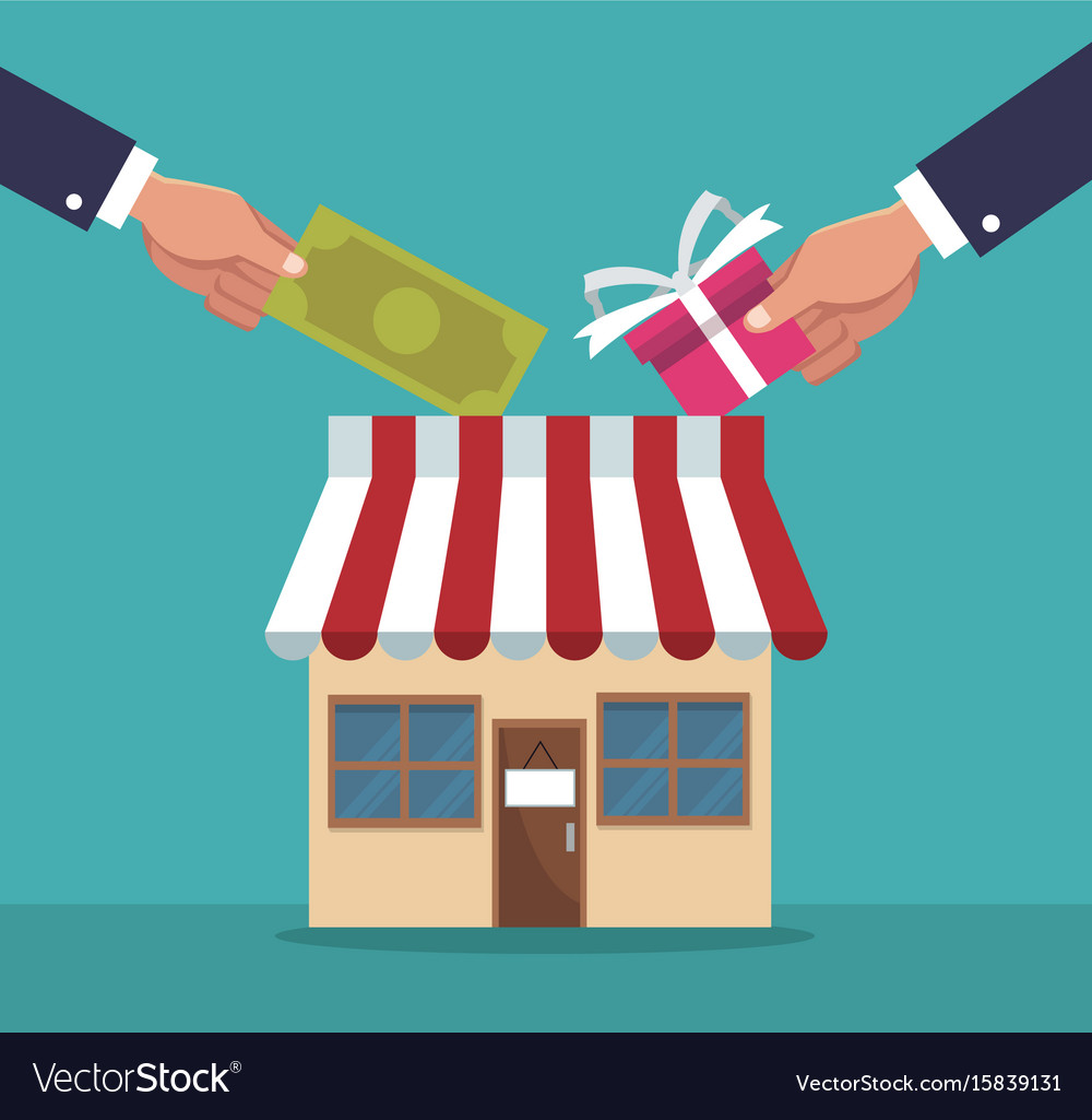 Color background of store with execuitve sleeve