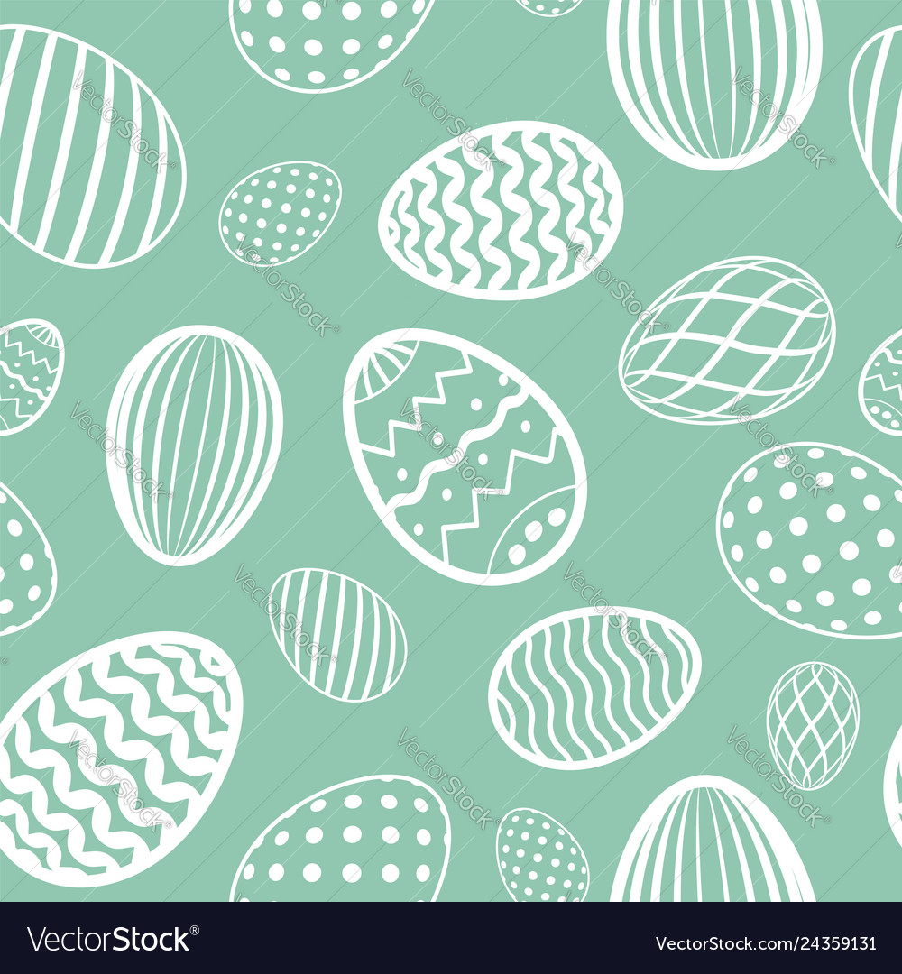 Easter egg seamless pattern pastel color holiday