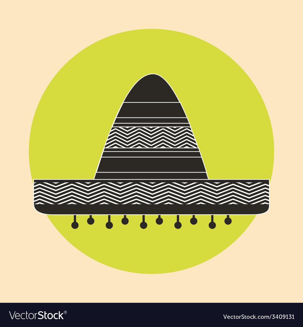 Mexican hat design vector image
