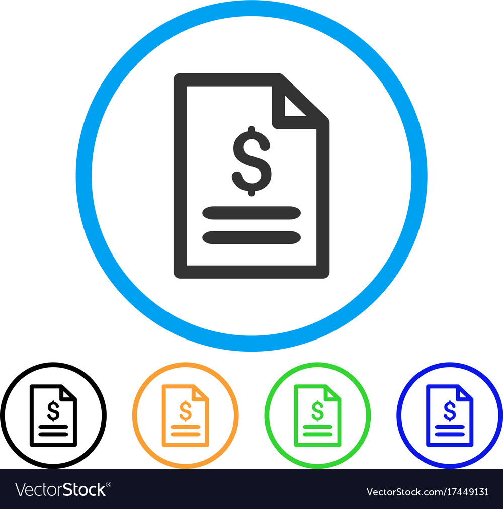 Price list rounded icon vector image