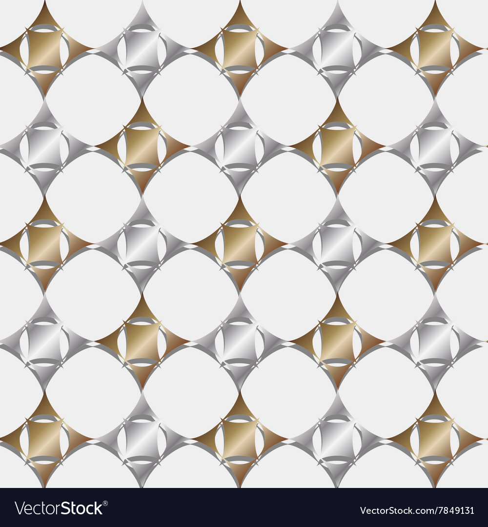 Seamless pattern gold and silver geometric