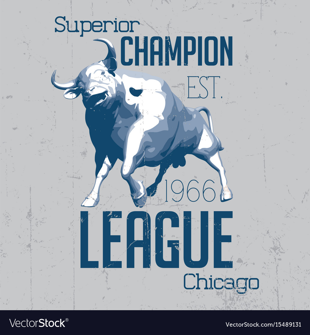 Superior chicago champion poster vector image