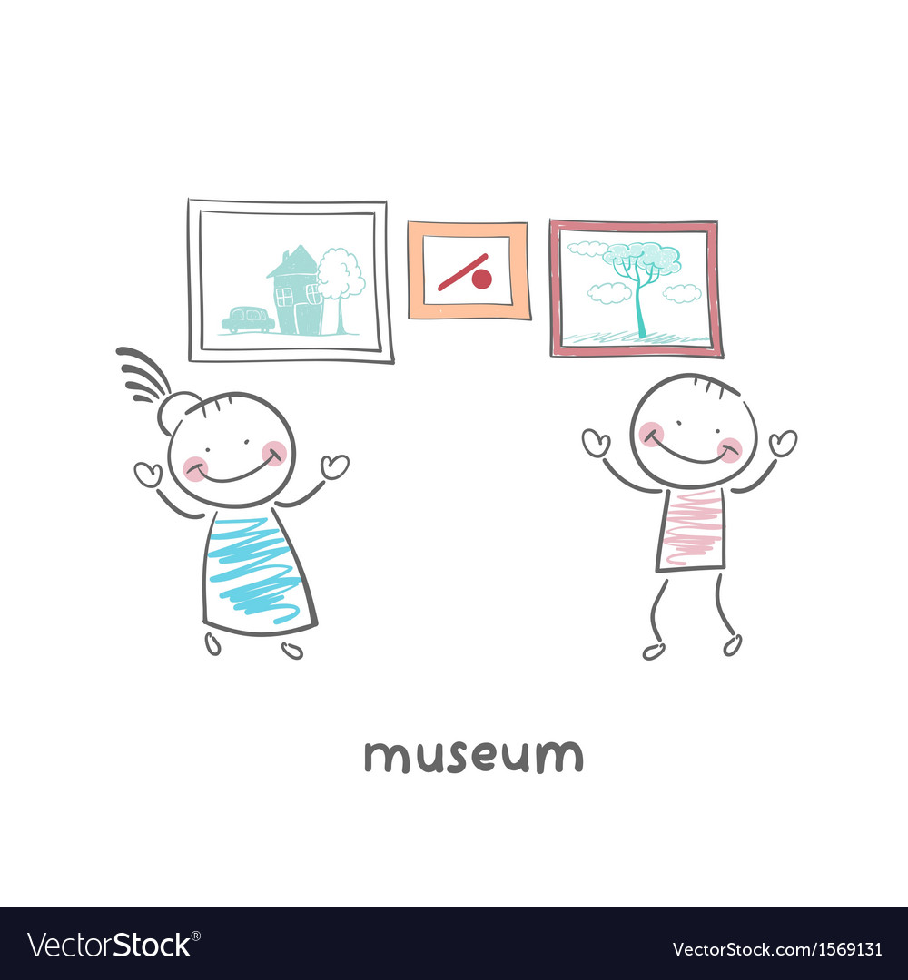 The art gallery vector image