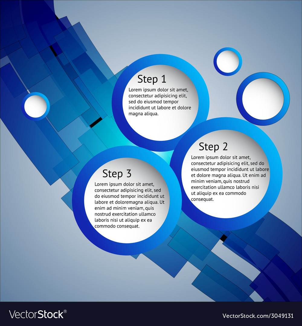 Three steps vector image