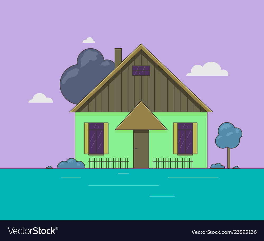A little house landscape