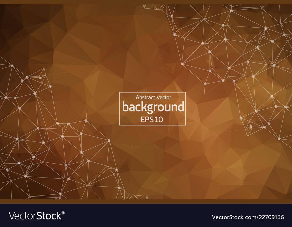 Abstract dark brown geometric polygonal