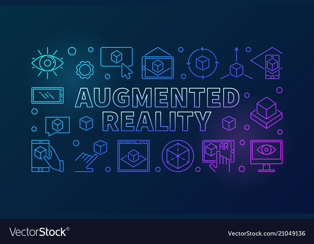 Augmented reality colored line horizontal