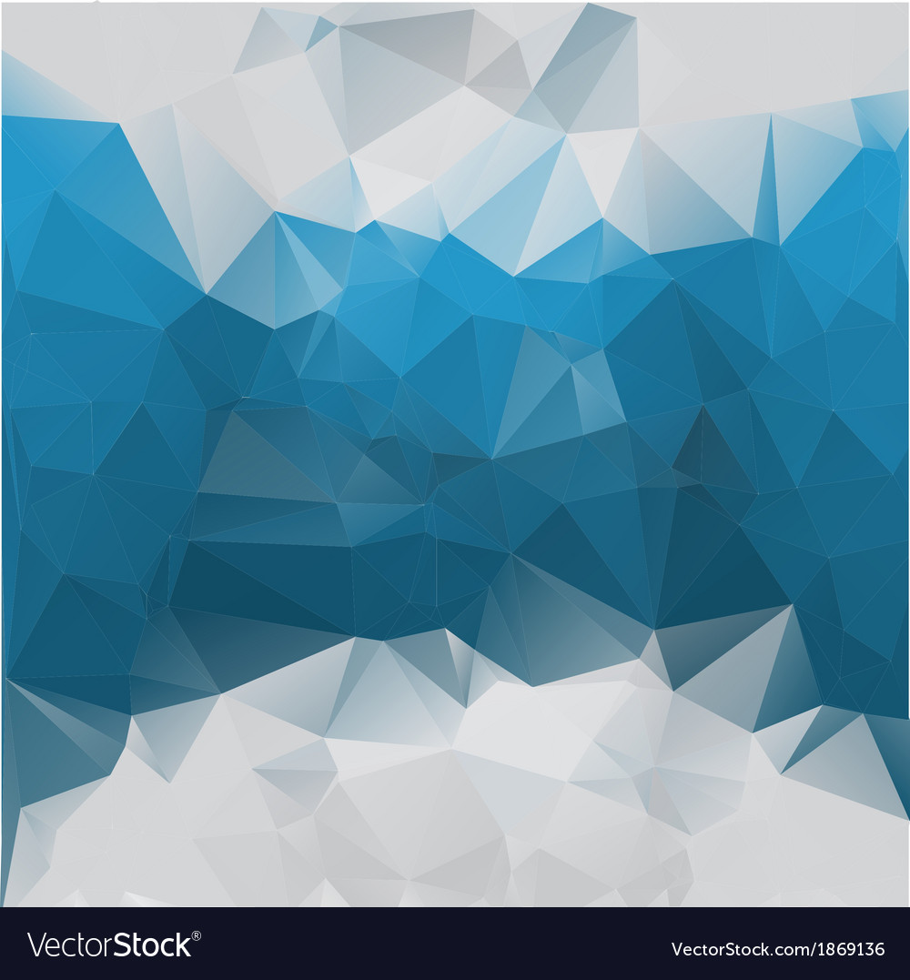 Blue Gray Background Polygonal Vector Image