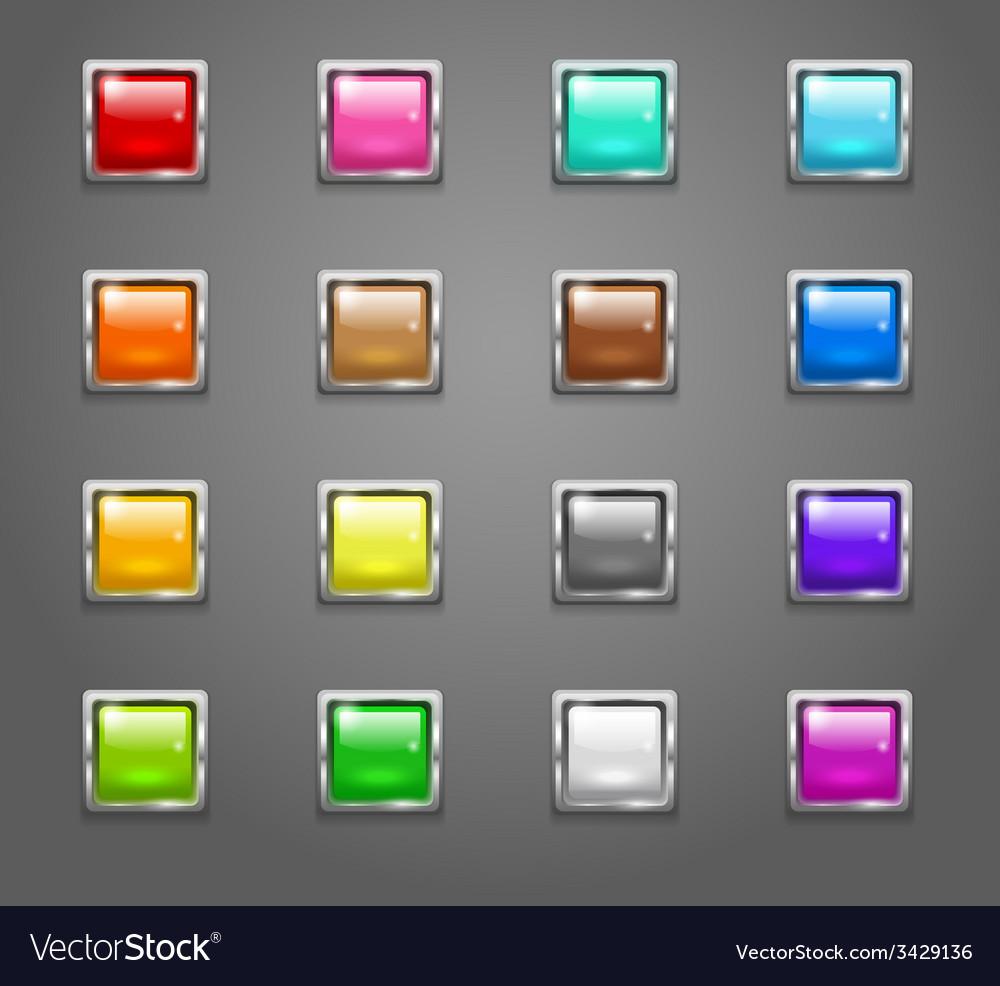 ButtonsSquareNeonSet 01