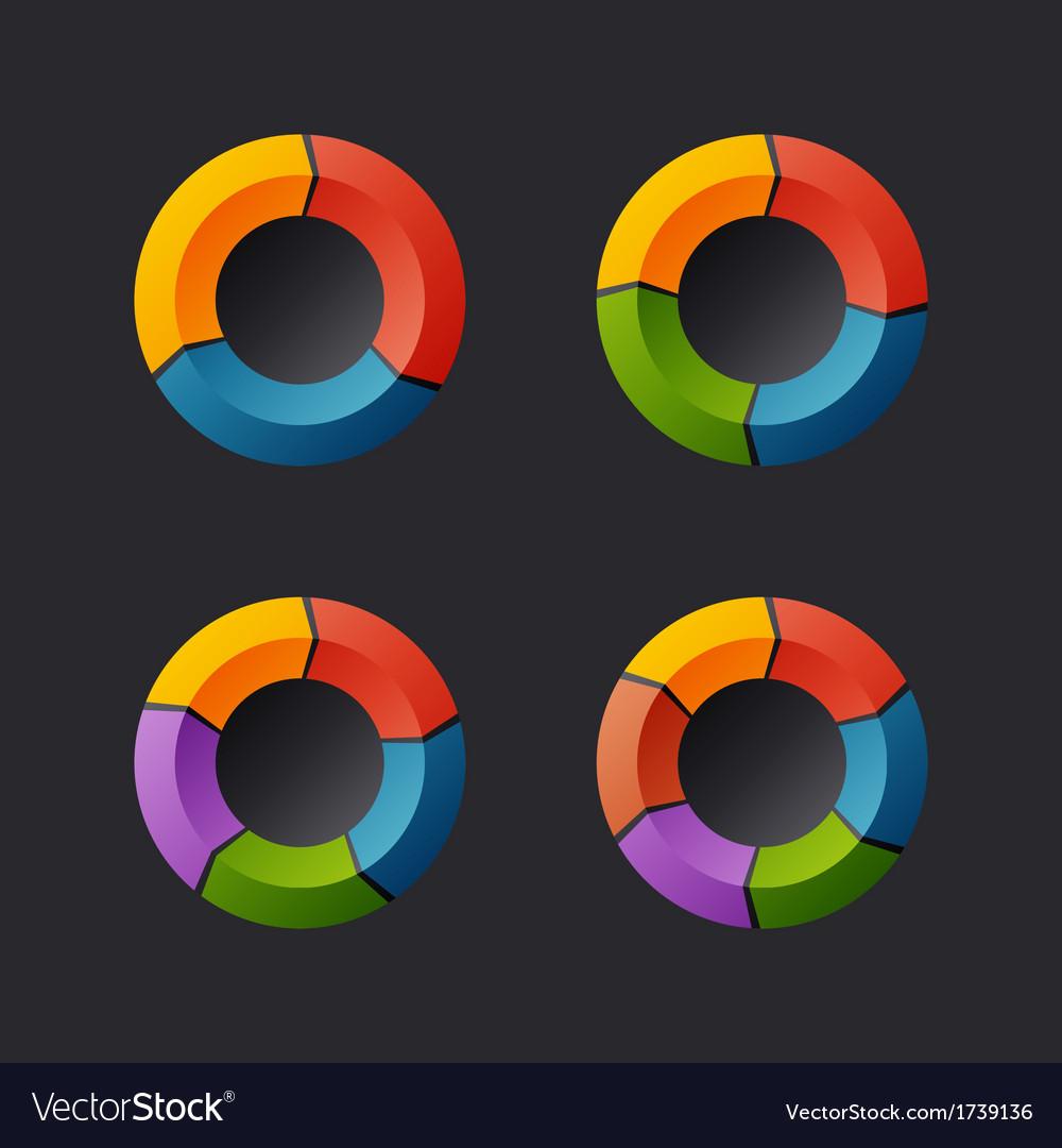 Circular Chart Template Set