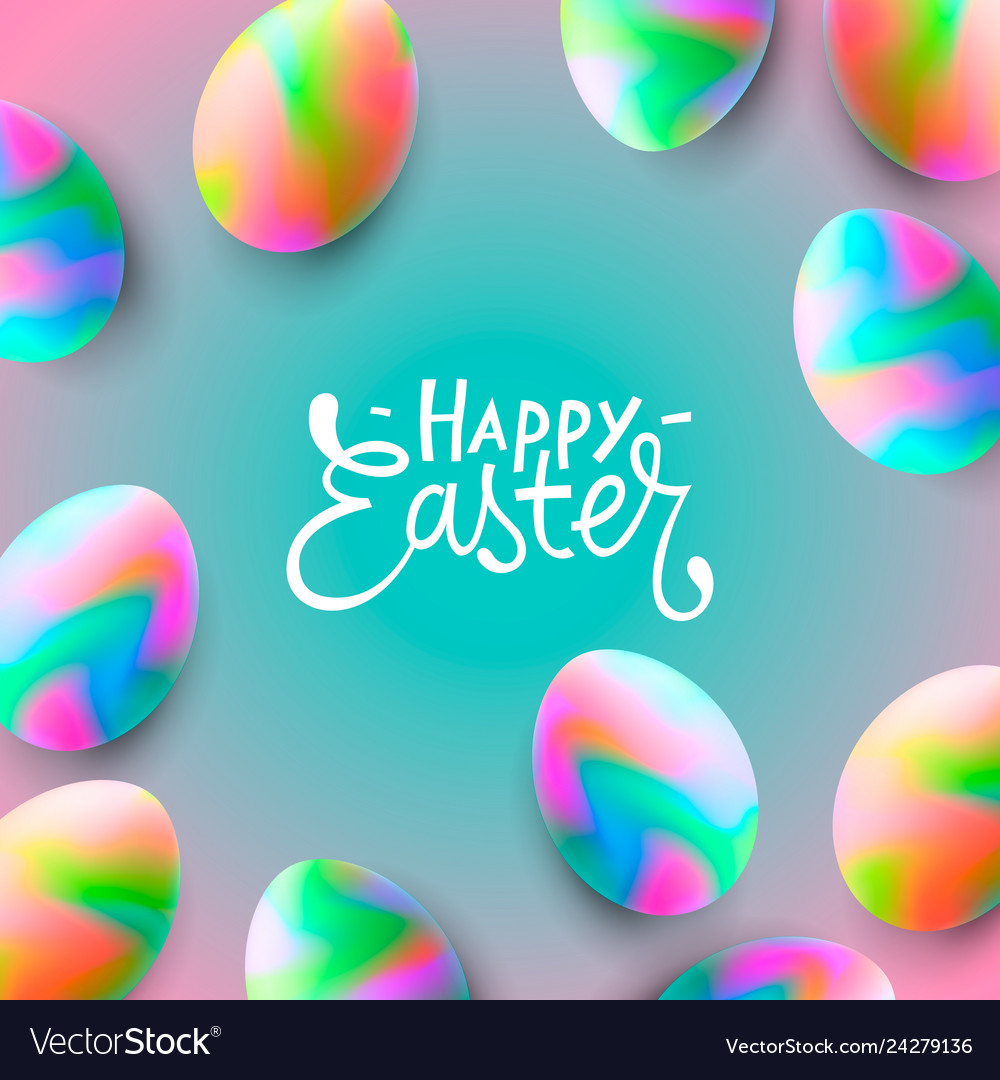 Happy easter background template with beautiful