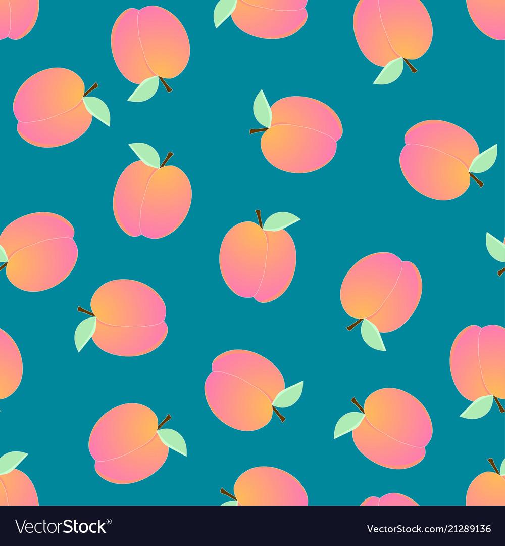 Peach seamless on blue background