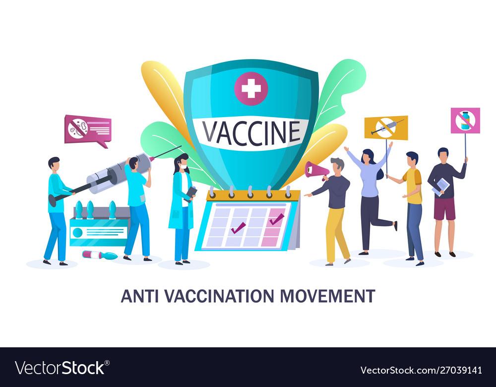 Anti vaccination movement concept for web