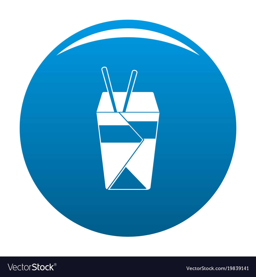 Chinese fast food icon blue vector image
