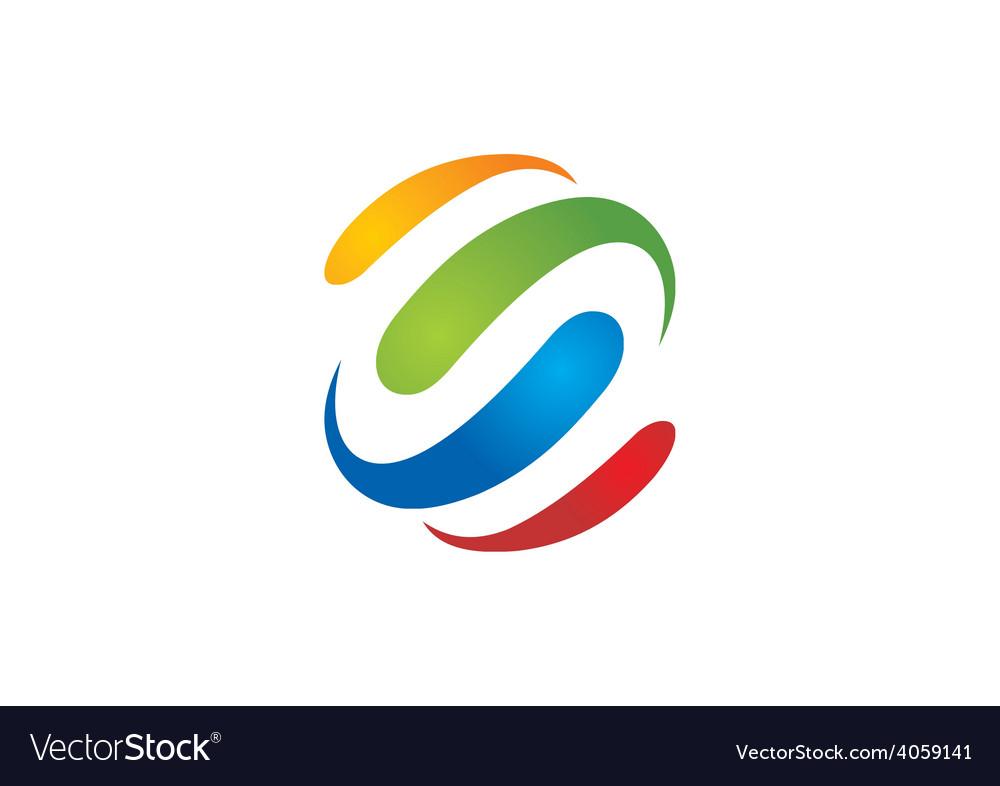 Colorful loop business logo