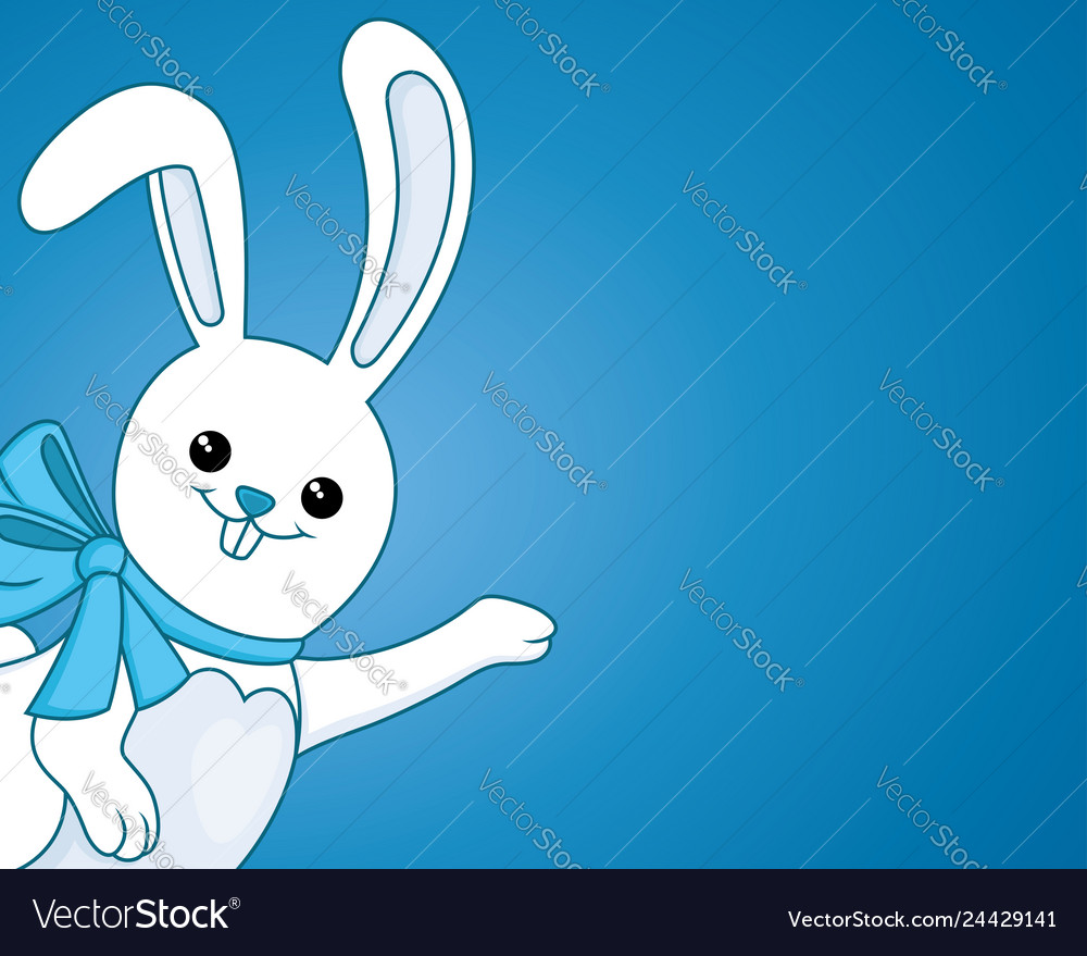 Funny bunny with a bow