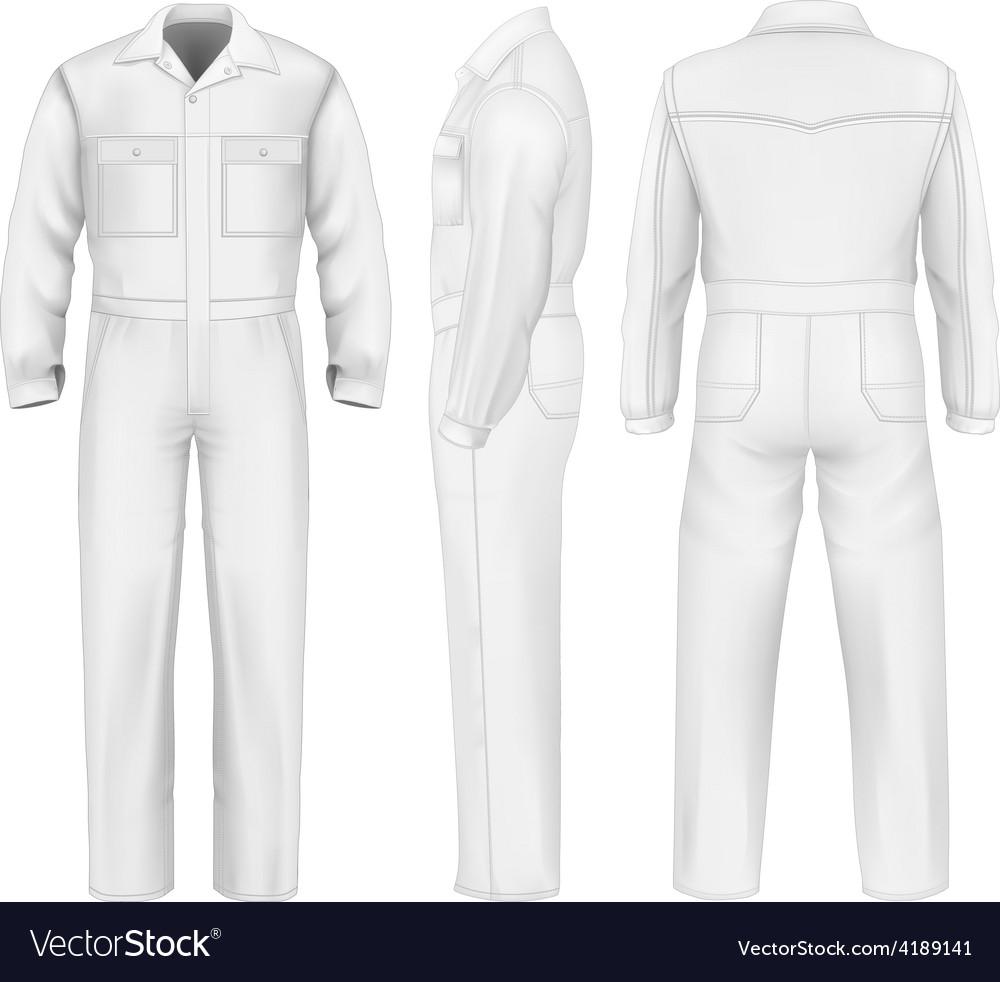 Men overalls vector image