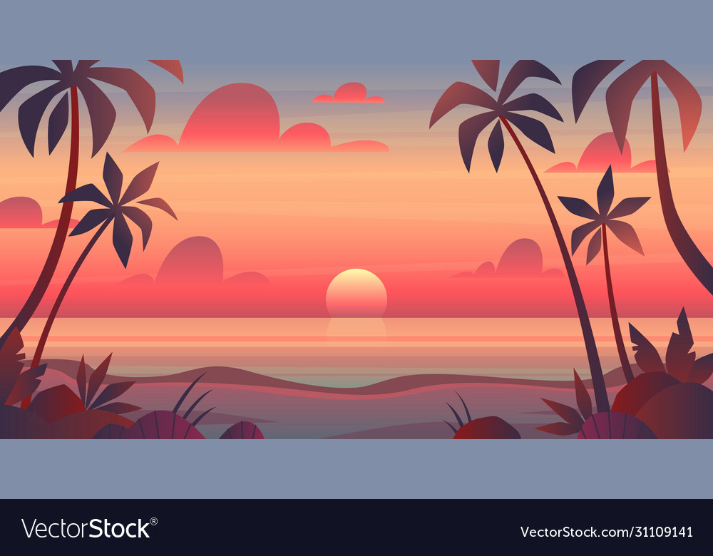 Sea sunset evening or morning view of