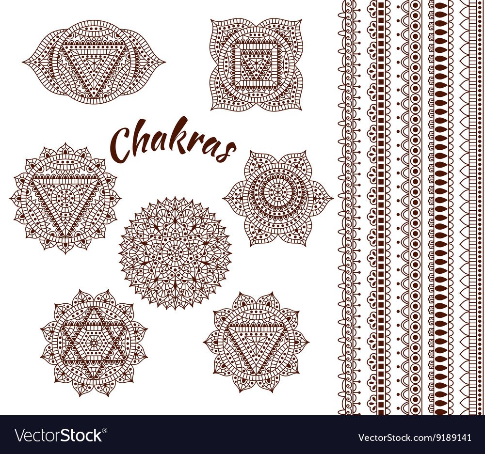Set of seven chakras