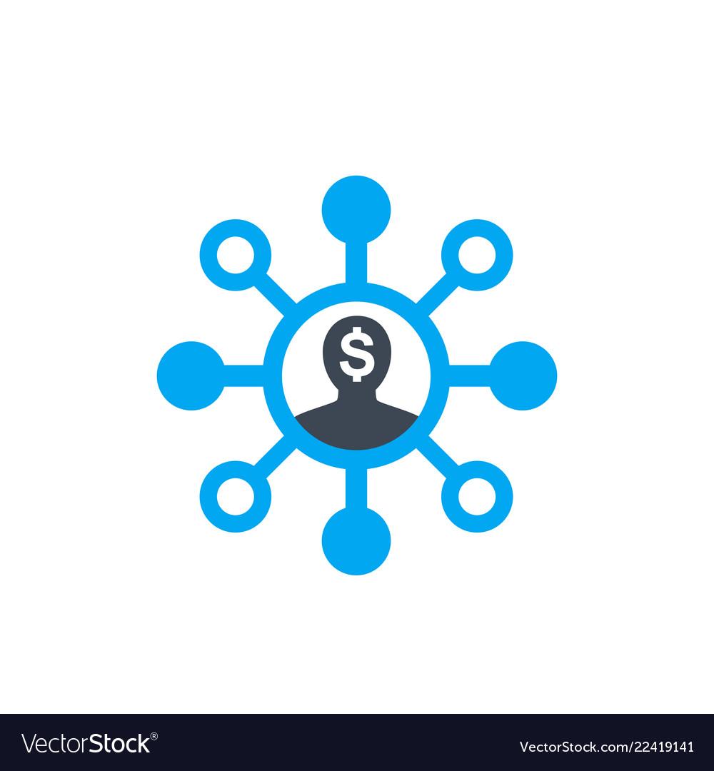 Shareholder icon on white