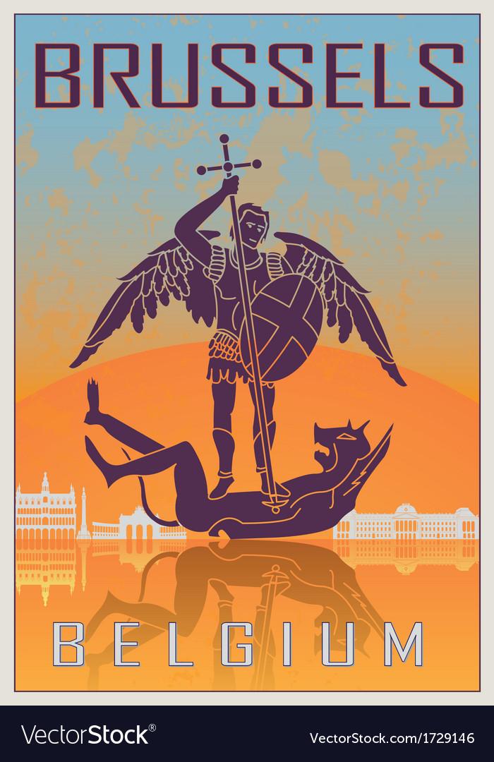 Brussels vintage poster