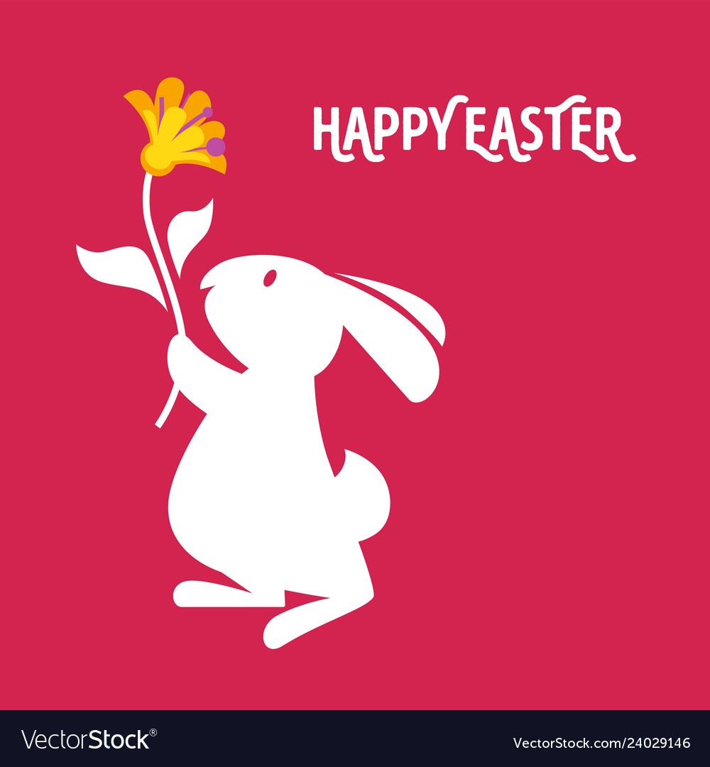 Easter cartoon greeting card with