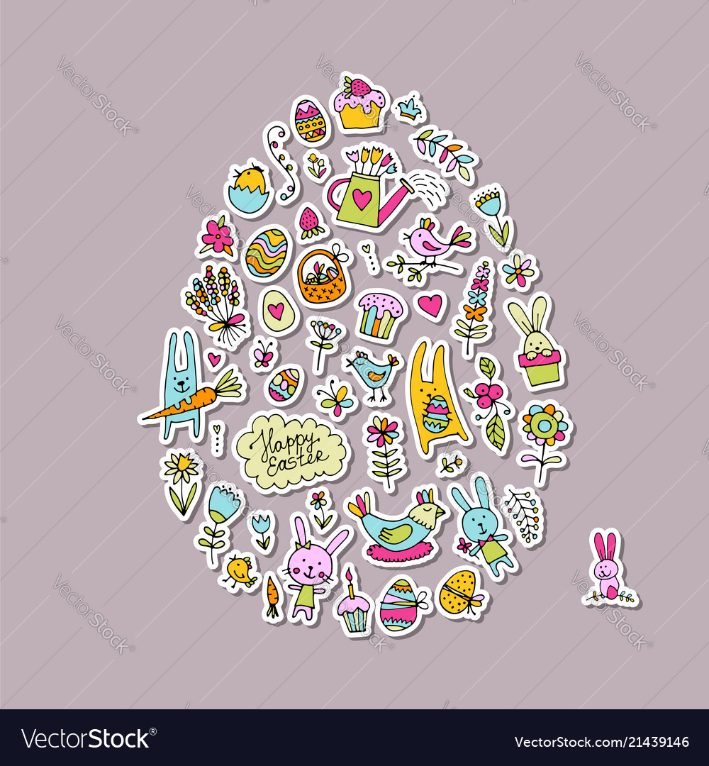 Easter egg icons collection for your design