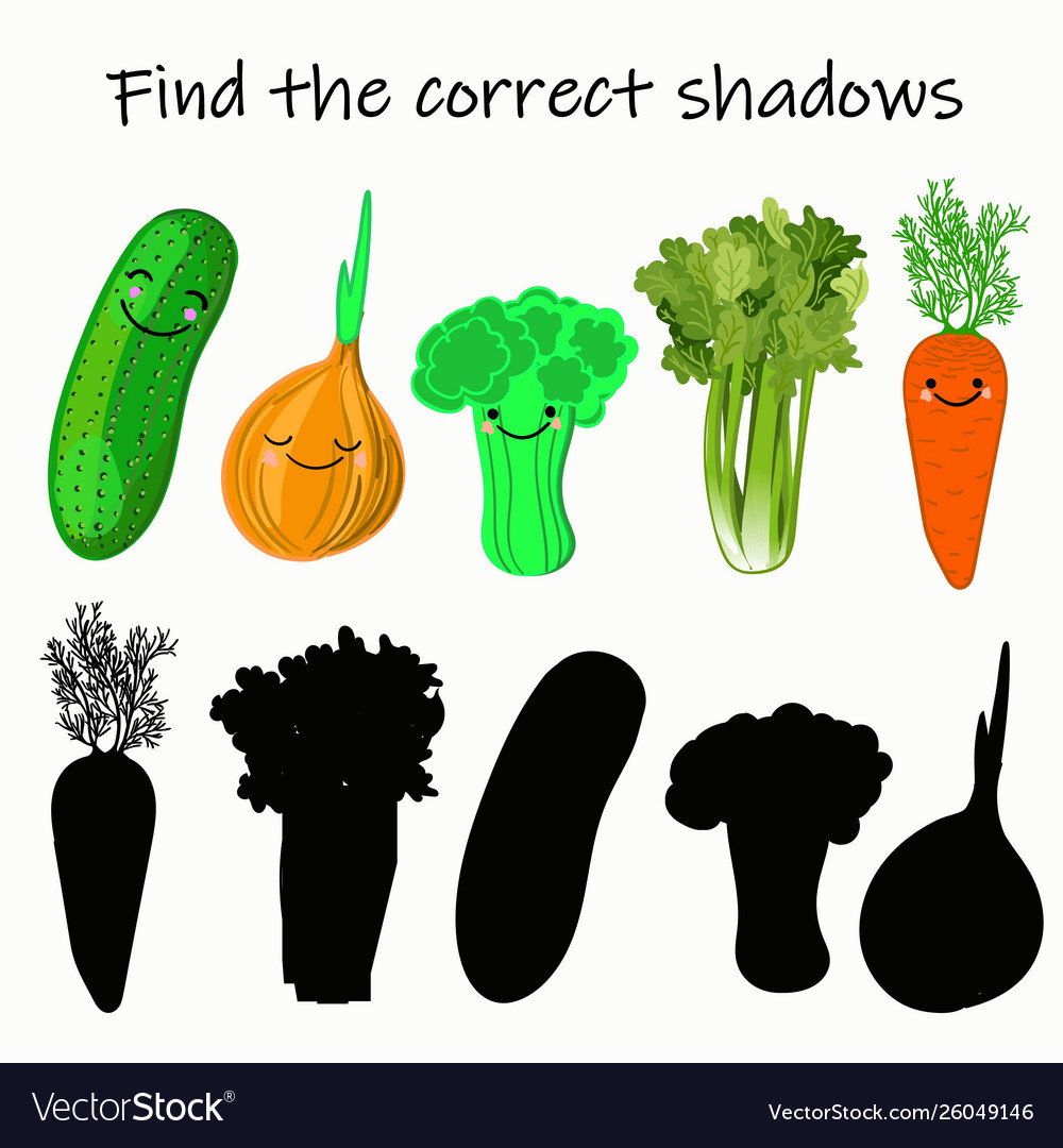 Find right shade vegetable educational