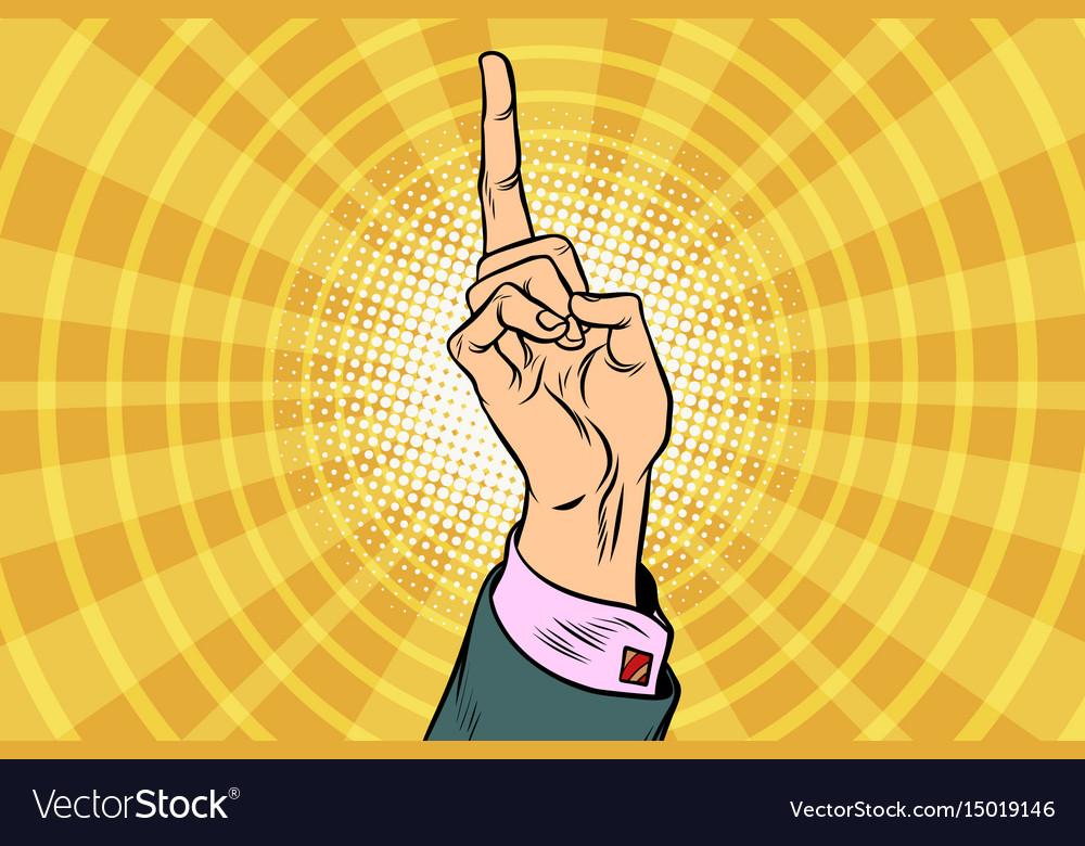 Index finger up
