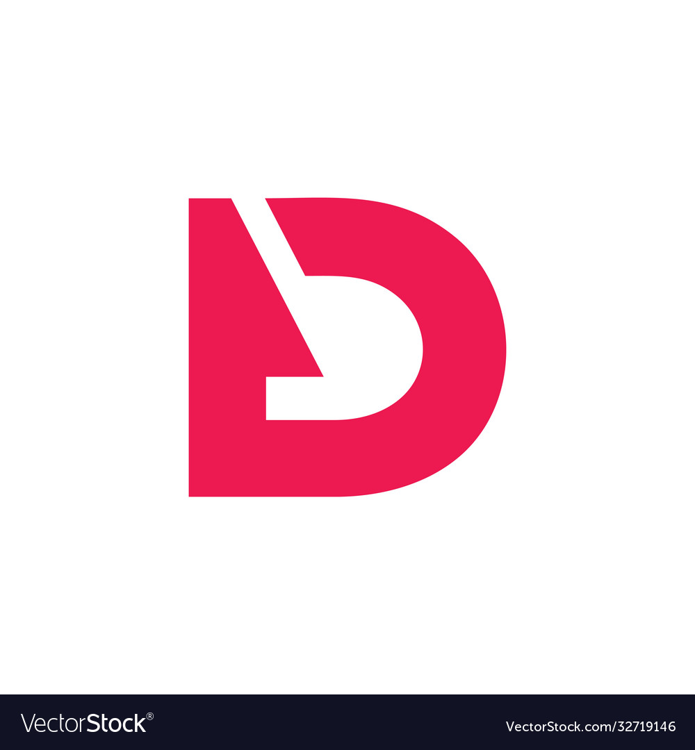 Letter bd abstract negative space logo