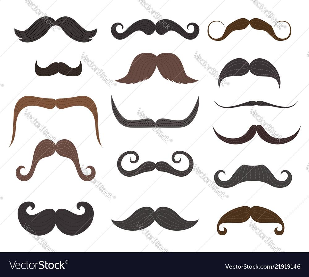 Amazing Men Mustache Styles Icons Royalty Free Vector Image Schematic Wiring Diagrams Amerangerunnerswayorg