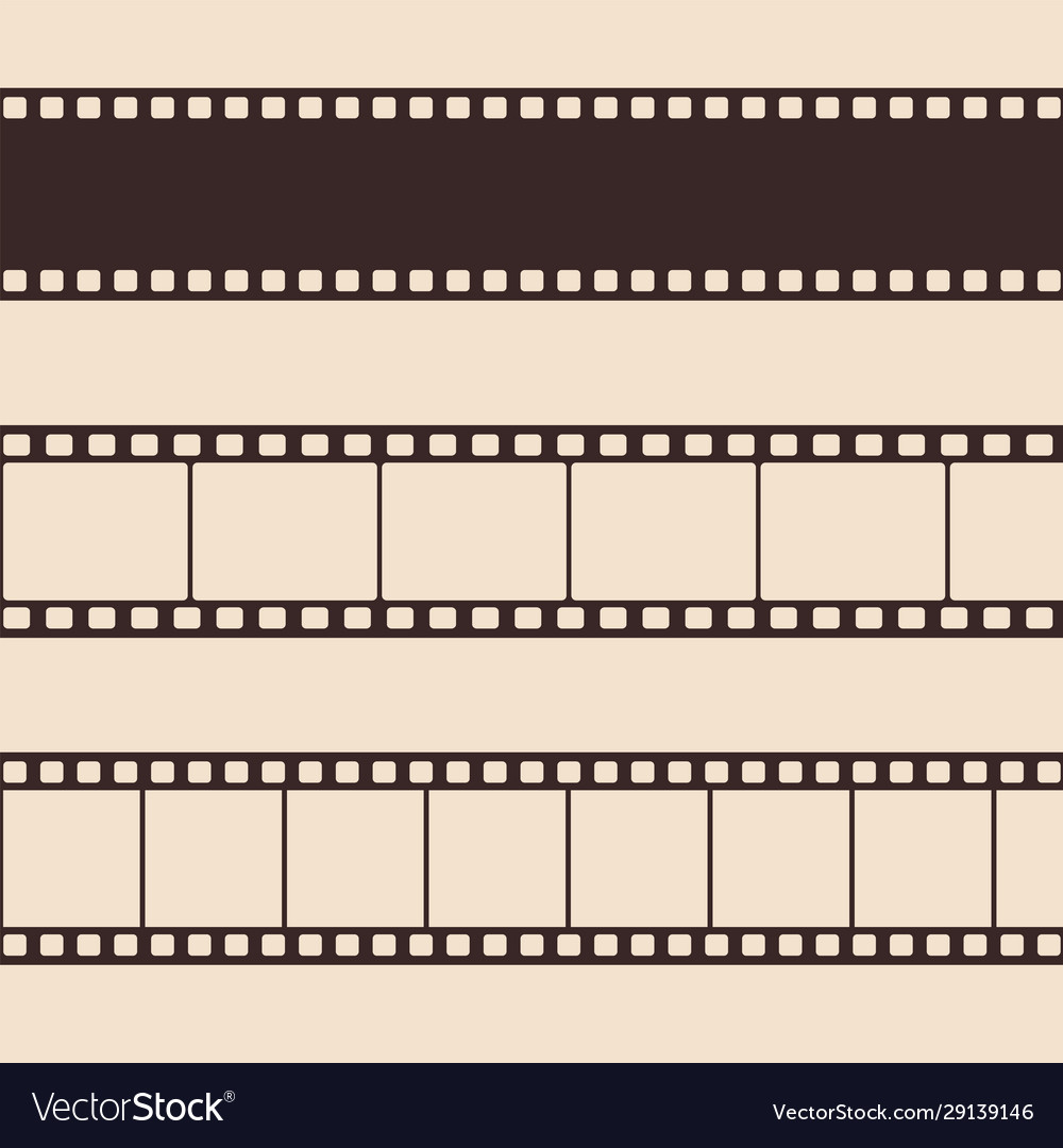 Set vintage film strip