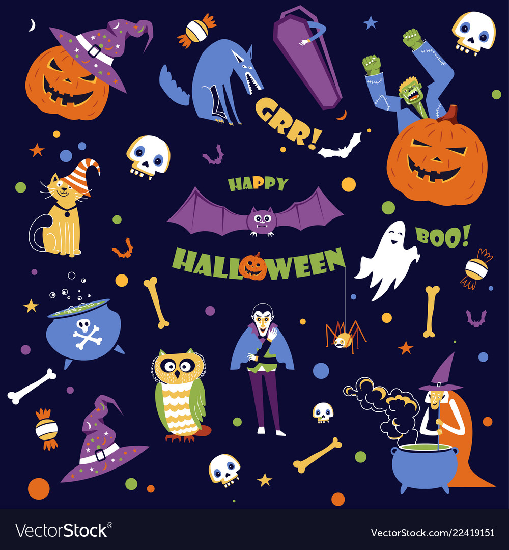 Halloween holiday seasonal event of autumn fall