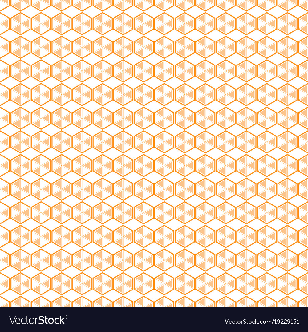 Hexagon patern yellow bee cell