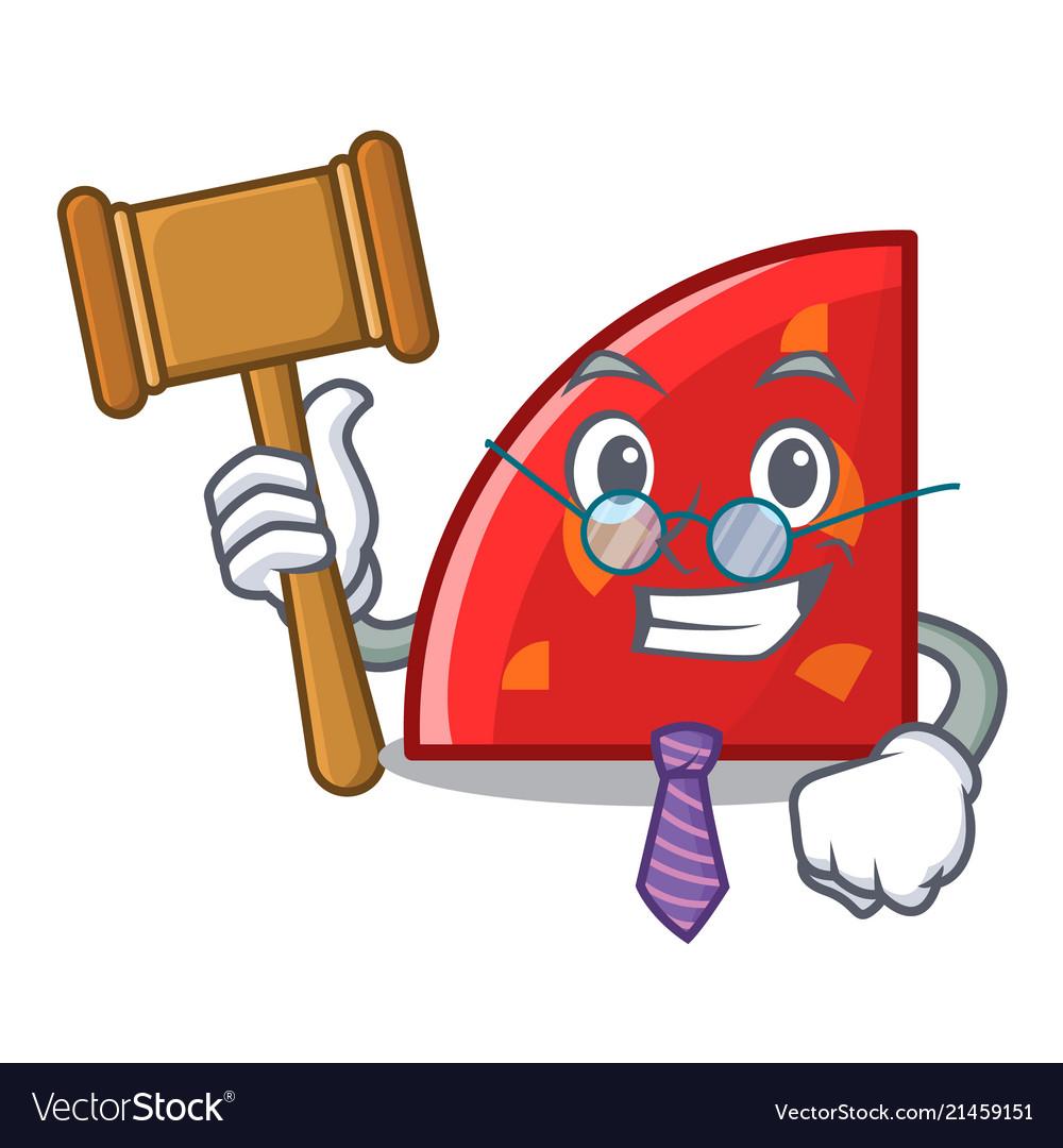 Judge quadrant mascot cartoon style