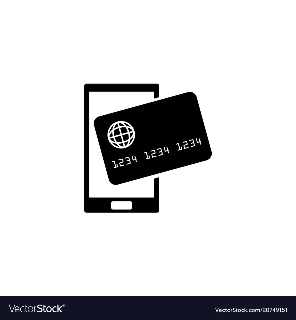 Mobile payment processing nfc flat icon
