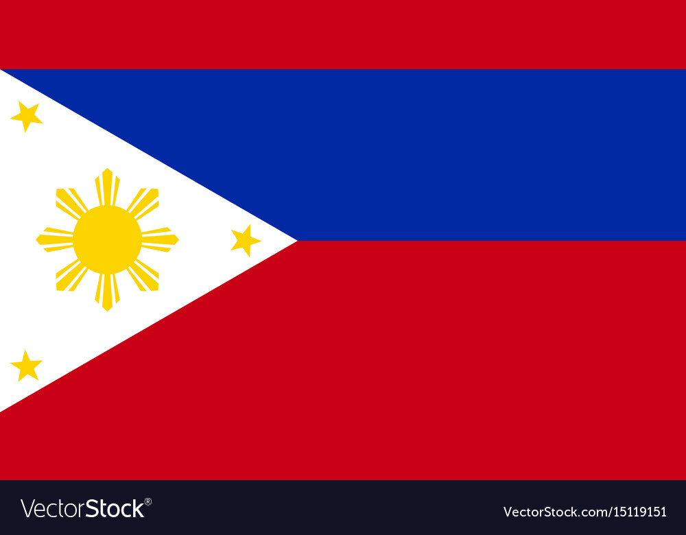 Philippine flag vector image