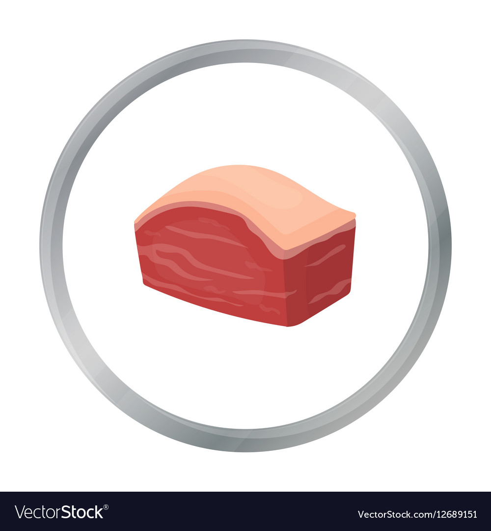 pork belly icon in cartoon style isolated on white vector 12689151 pork belly icon in cartoon style isolated on white