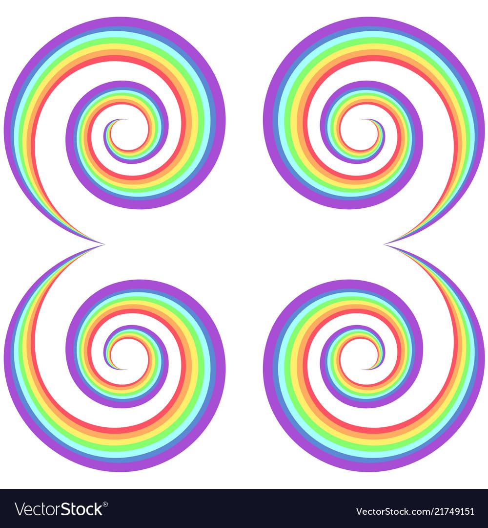 Rainbow psychedelic swirl pattern