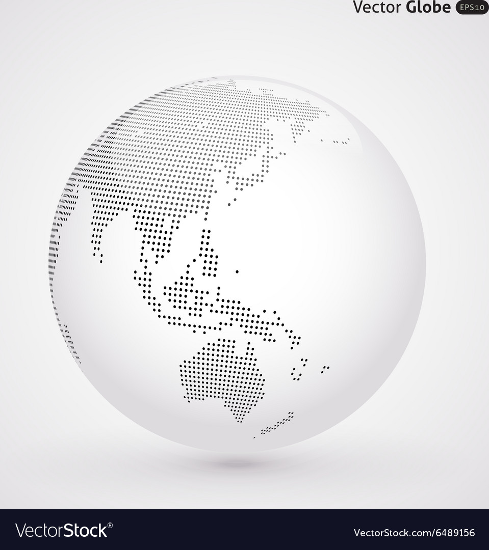 Abstract dotted globe