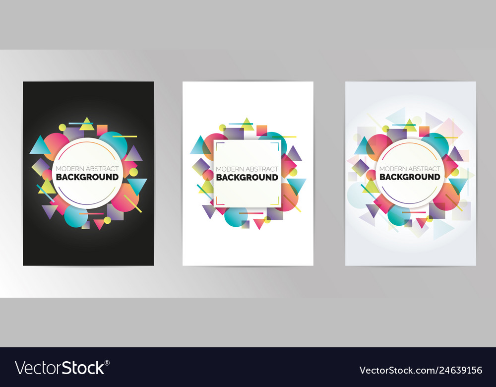 Abstract geometric pattern design background set