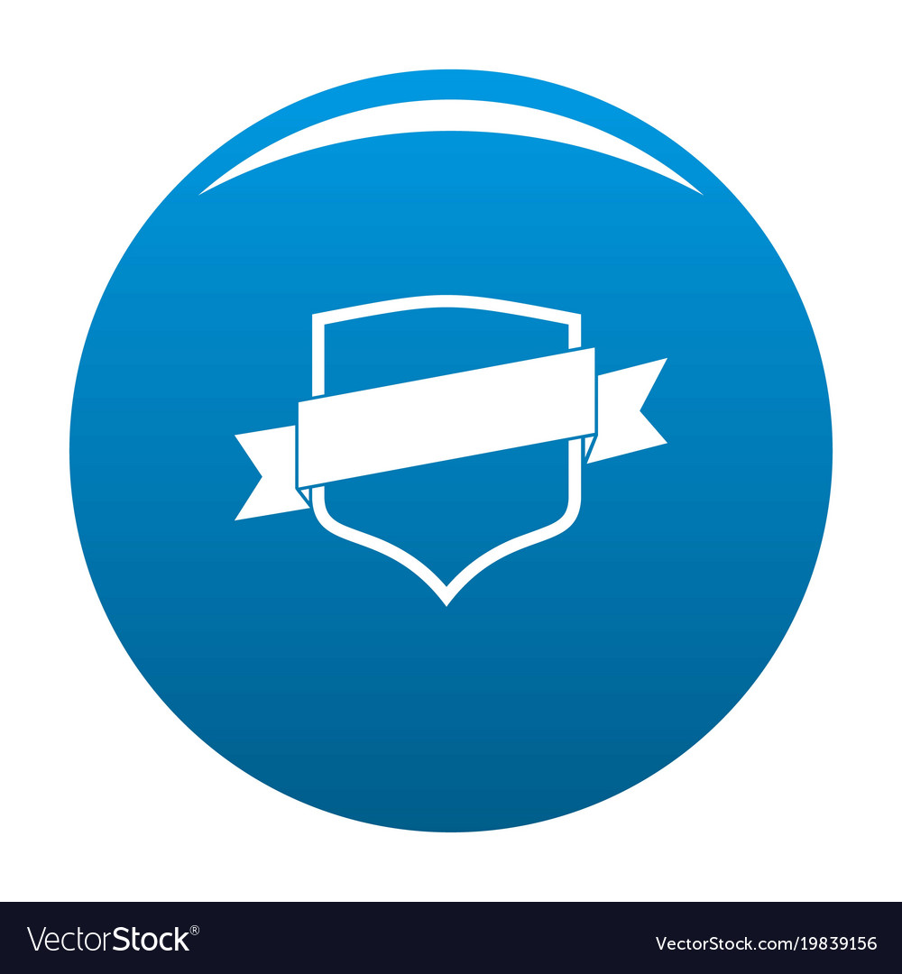 Badge icon blue vector image