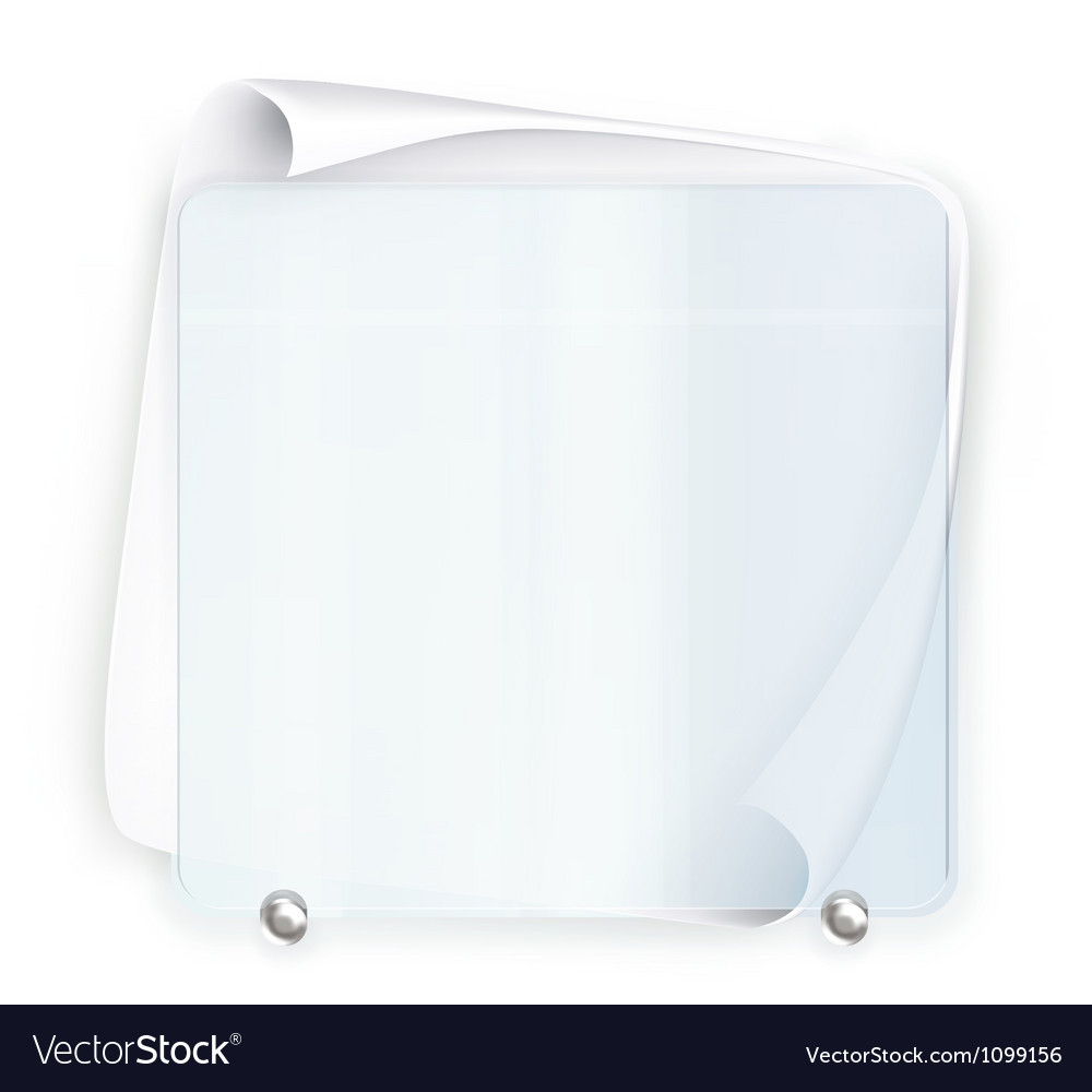 Banner glass vector image