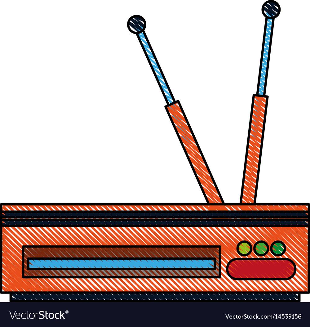 Color blurred stripe decoder antenna tv