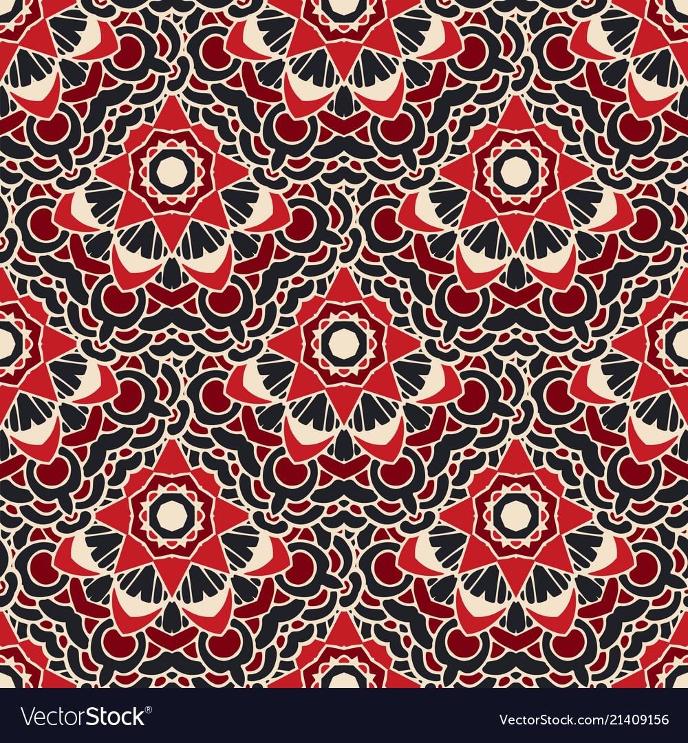 Ethnic seamless pattern design surface