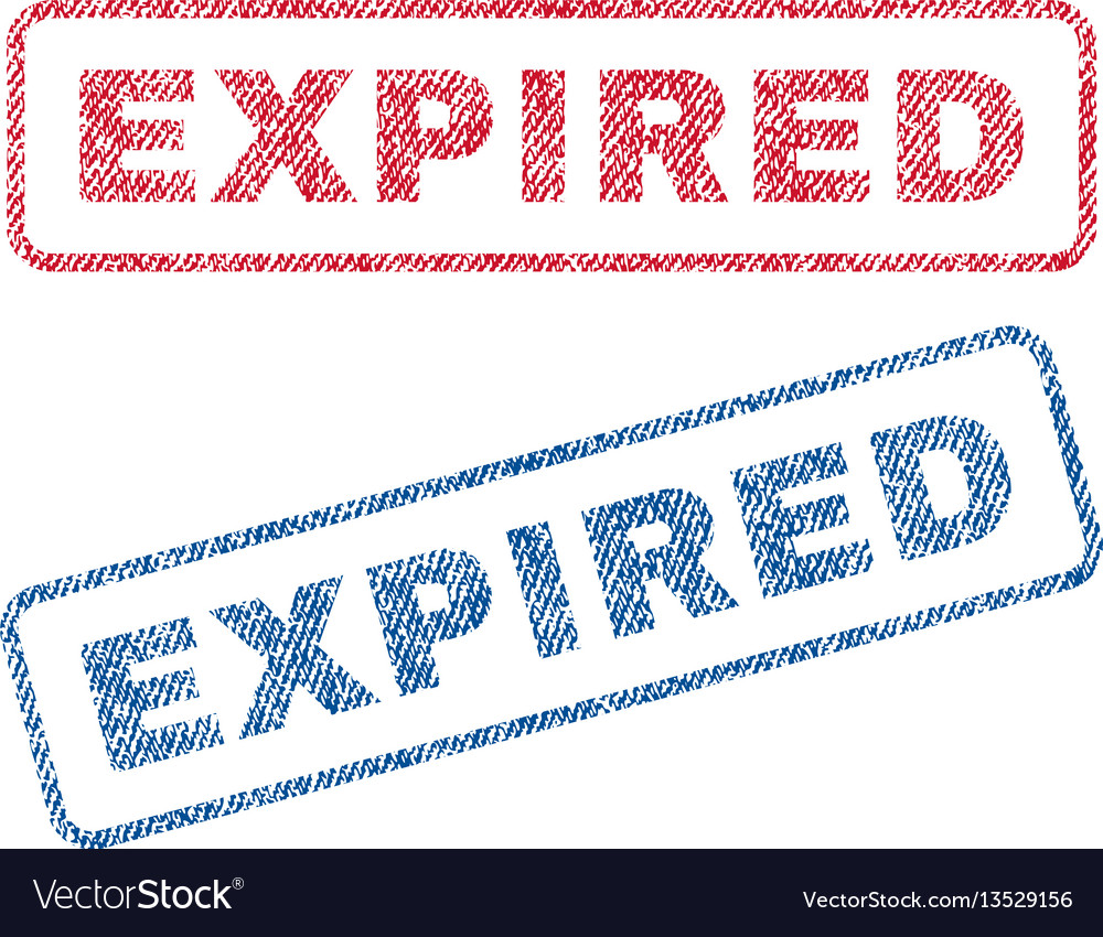 Expired textile stamps