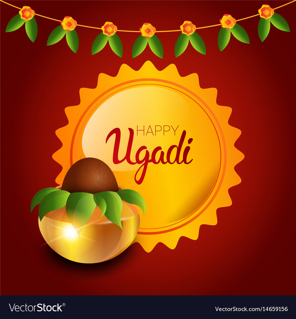 Happy Ugadi And Gudi Padwa Hindu New Year Greeting